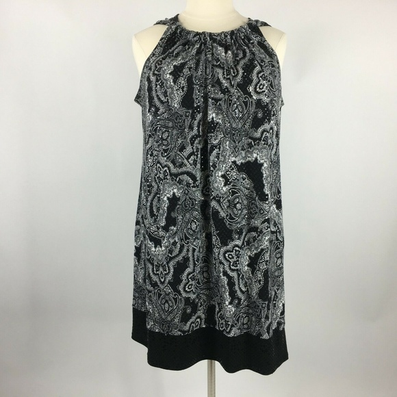 Fashion Bug Plus Size 2X Sequin Paisley Dress